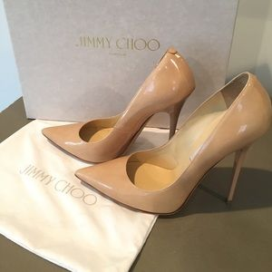 "Authentic Jimmy Choo Nude Patent leather ""Anouk"""